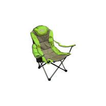 【Outdoorbase】太平洋 高背 三段式休閒椅(熱賣款). (2入)-綠/灰