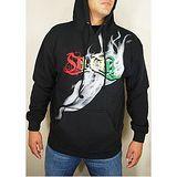 『摩達客』美國進口超酷FUN品牌【So Cal】冒煙黑色設計連帽T恤