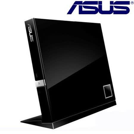 ASUS華碩 超薄型外接藍光COMBO光碟機(SBC-06D2X-U) 晶鑽黑【加送光碟機保護套】