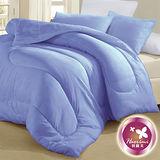 【羽織美】雙人透氣纖維1被2枕組-水藍