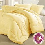 【羽織美】雙人透氣纖維1被2枕組-淺黃