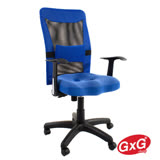 吉加吉 長背辦公椅 TW-041 藍色 3D立體(小顆)坐墊 休閒電腦椅
