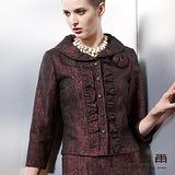 【麥雪爾】華麗璀璨~驚艷媚力浮裂紋超保暖胸花上衣