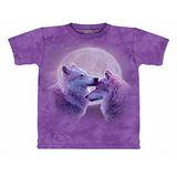 『摩達客』美國進口【The Mountain】自然純棉系列 恩愛之狼設計T恤 (預購)