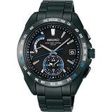 SEIKO BRIGHTZ 太陽能4局電波腕錶(IP黑+藍圈) 8B54-0AN0D