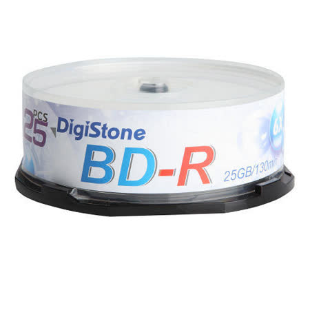 DigiStone 國際版 藍光 6X BD-R 25GB 桶裝 (100片)