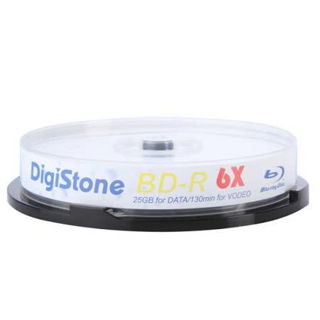 DigiStone 國際版 藍光 6X BD-R 25GB 桶裝 (10片)