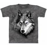 『摩達客』美國進口【The Mountain】自然純棉系列 野狼像設計T恤 (預購)