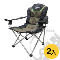 【Outdoorbase】太平洋 高背 三段式休閒椅(熱賣款) (2入)-黑/咖啡