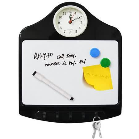 Artist 留言板附時鐘鑰匙掛架
