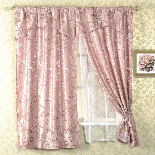 芸佳 - 淡紫藍米蘭三層窗簾 195x165