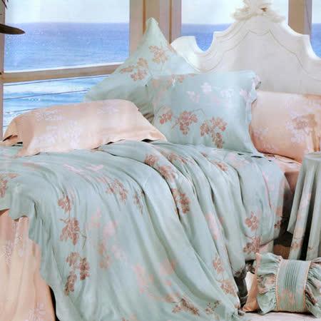 《花絮》雙人100%天絲TENCEL四件式兩用被床包組
