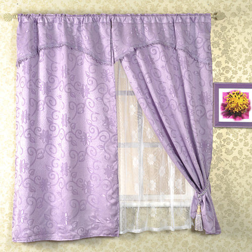 芸佳 - 明采提花窗簾 195x165 (紫)