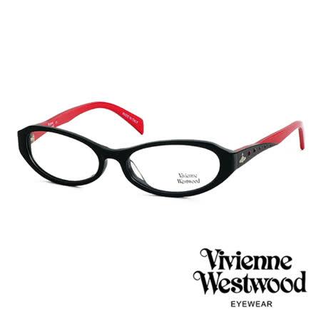Vivienne Westwood 光學鏡框★復古晶鑽造型框★英倫龐克雙色板料/平光鏡框(火紅黑) VW193 02
