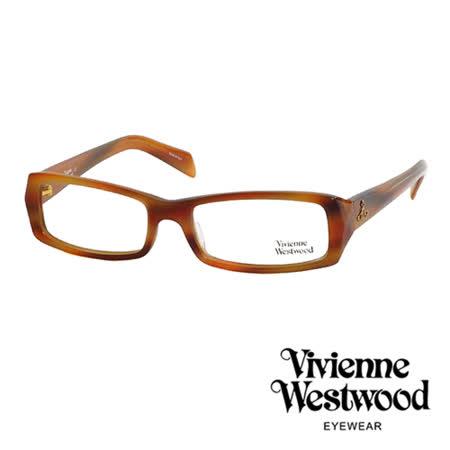 Vivienne Westwood 光學鏡框★時尚造型方框★英倫龐克雙色板料/平光鏡框(琥珀色) VW195 03
