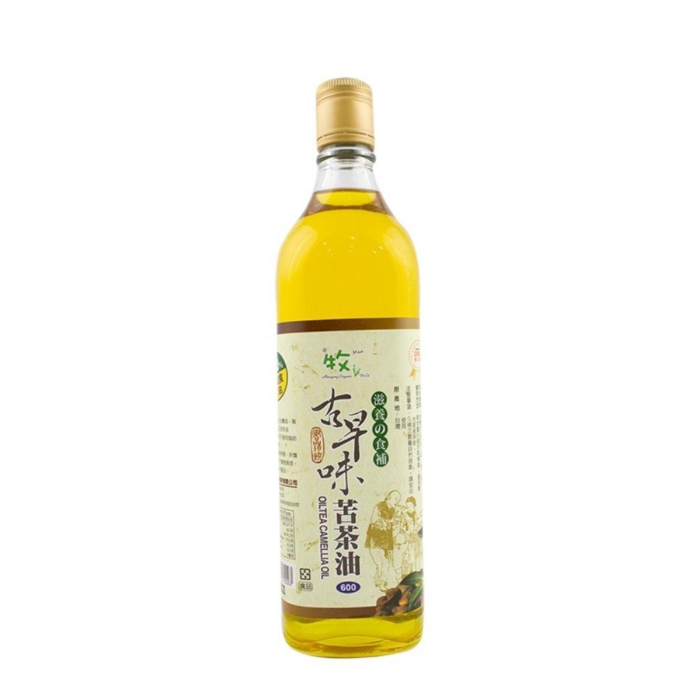 牧馬 古早味苦茶油/素食(600mlx3罐)