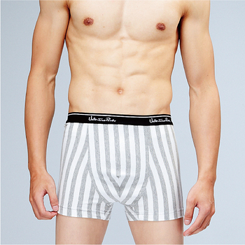 任選《VALENTINO》針織條紋平口褲-灰條紋(M-XXL)