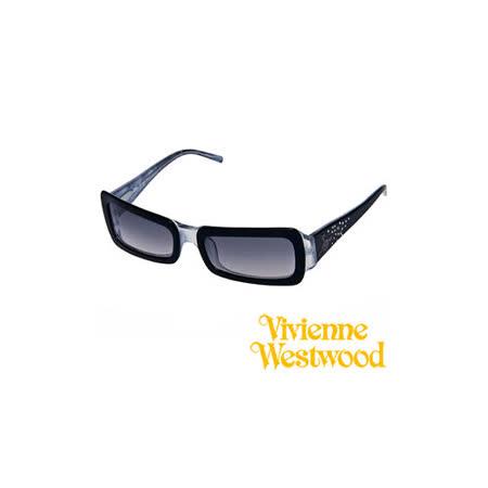 Vivienne Westwood太陽眼鏡★閃亮晶鑽滿天星★英倫龐克時尚墨鏡(漸層黑) VW596 03