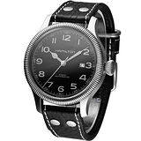 HAMILTON Khaki 航空自動機械腕錶(H60515533)黑皮
