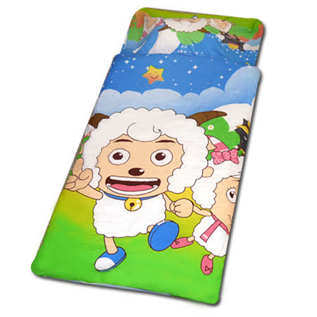 【喜羊羊郊遊篇】幼教兒童睡袋(4*5尺-藍)