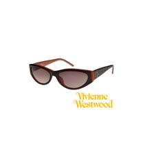 Vivienne Westwood太陽眼鏡★時尚土星壓紋★英倫龐克墨鏡(咖啡橘) VW622 03