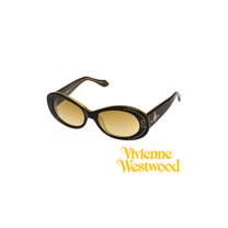 Vivienne Westwood太陽眼鏡★時尚閃亮晶鑽復古大框面★英倫龐克墨鏡(黑) VW624 04