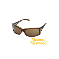 Vivienne Westwood太陽眼鏡★經典LOGO流線造型★英倫龐克教母設計墨鏡(琥珀色) VW656 03