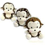 《購犀利》台灣製造-12吋花紋猴坐姿絨毛娃娃/填充娃娃-3款斑紋隨機出貨
