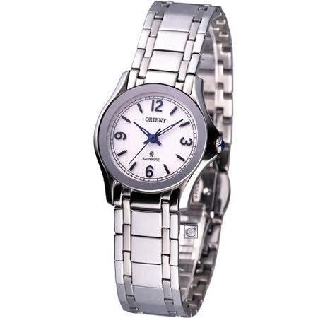 日本東方 ORIENT 超薄經典女用腕錶S451X18S圓形銀色款