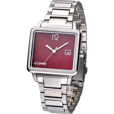 LICORNE Dessert系列時尚腕錶-(LI005BWRA)櫻桃紅