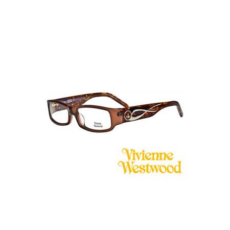 Vivienne Westwood 光學鏡框★時尚流線花邊★英倫龐克教母設計 平光鏡框(琥珀色) VW209 03