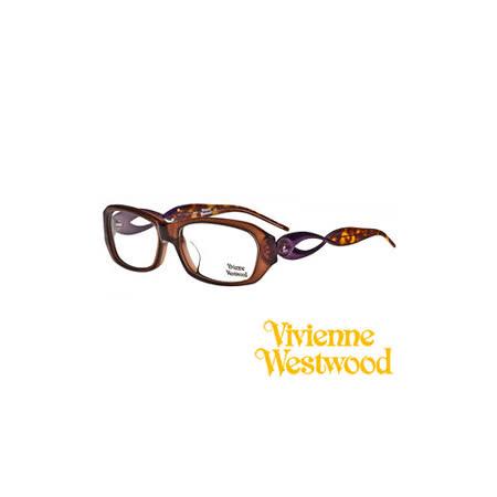 Vivienne Westwood 光學鏡框★時尚流線造型鏡腳★英倫龐克教母設計 平光鏡框(琥珀色) VW210 01