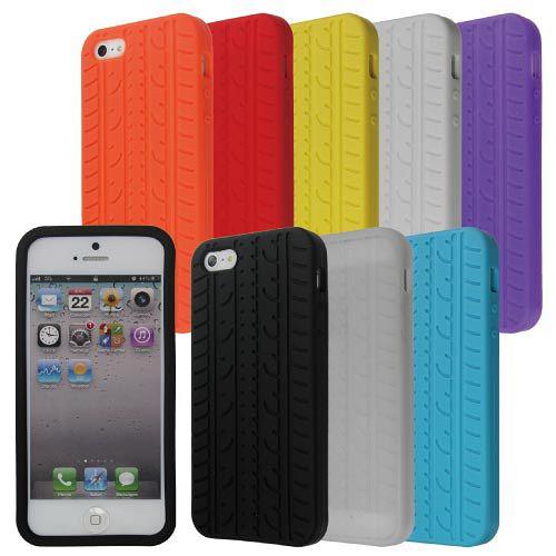 iPhone 5 矽膠保護套-輪胎造型