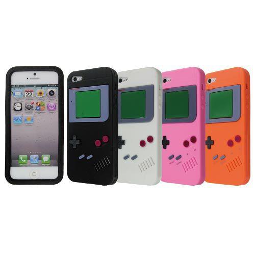iPhone 5 矽膠保護套-仿Game Boy 復古款