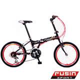 【FUSIN】新騎生活F101◎20吋21速小徑摺疊車(6色任選)