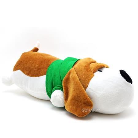 頑皮動物園【可愛狗狗】長形小抱枕/玩偶