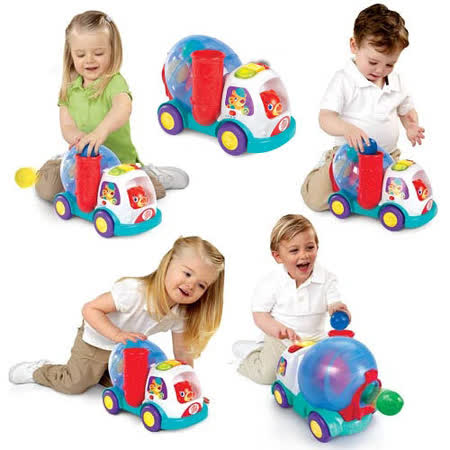 Kids II-來玩球吧-跑跑水泥車