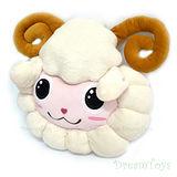 《購犀利》台灣製造-16吋羊咩咩頭型抱枕/絨毛娃娃/填充娃娃