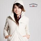 【FANTINO】兩件式防風背心外套,珍珠絨內裡超保暖(米白) 085101