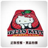 三麗鷗原廠授權-Hello Kitty-天天吃蘋果-保溫暖暖被