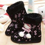 【童鞋城堡】Hello kitty小蝴蝶結球球雪靴{百貨專櫃}712378