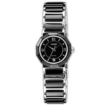 iwatch 歐風時尚陶瓷女錶(黑)