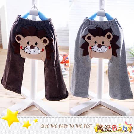 (購物車)魔法Baby ~厚款秋冬刷毛布長褲(咖啡、灰)~時尚設計童裝~k01917