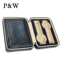 【P&W名錶收藏盒】【黑色真皮皮革】4支裝 手工精品 旅行攜帶盒 錶盒