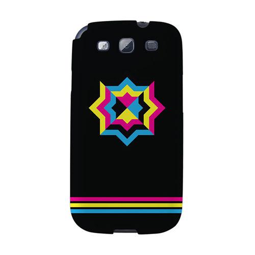 【韓國正品Makase】※PRISM.1_BLACK※ SAMSUNG Galaxy S3 i9300 質感手機保護殼 附贈胸針及簡易立架