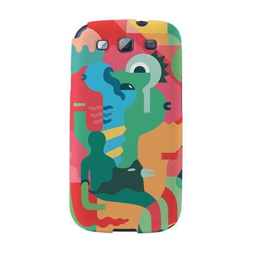 【韓國正品Makase】※Mixed Mutents2A※ SAMSUNG Galaxy S3 i9300 質感手機保護殼 附贈胸針及簡易立架