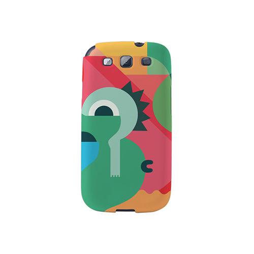 【韓國正品Makase】※Mixed Mutents2B※ SAMSUNG Galaxy S3 i9300 質感手機保護殼 附贈胸針及簡易立架