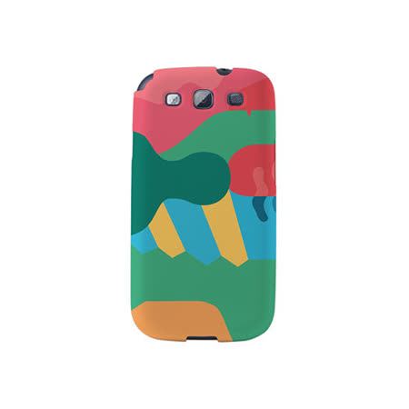 【韓國正品Makase】※Mixed Mutents2C※ SAMSUNG Galaxy S3 i9300 質感手機保護殼 附贈胸針及簡易立架