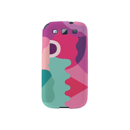 【韓國正品Makase】※Mixed Mutents1B※ SAMSUNG Galaxy S3 i9300 質感手機保護殼 附贈胸針及簡易立架