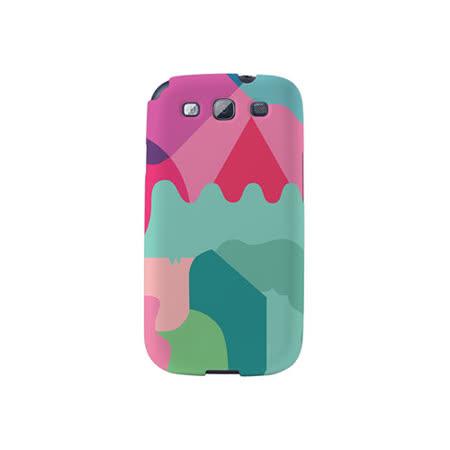 【韓國正品Makase】※Mixed Mutents1C※ SAMSUNG Galaxy S3 i9300 質感手機保護殼 附贈胸針及簡易立架